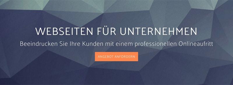 Angebot Webseite für Unternehmen