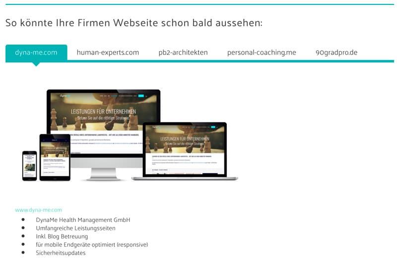 So könnte Ihre Webseite aussehen