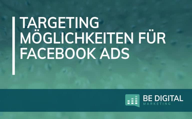 Targeting für Facebook Werbeanzeigen