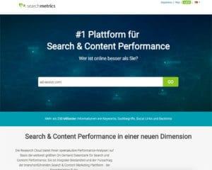 Searchmeterics - Tool zur Keyword-Recherche